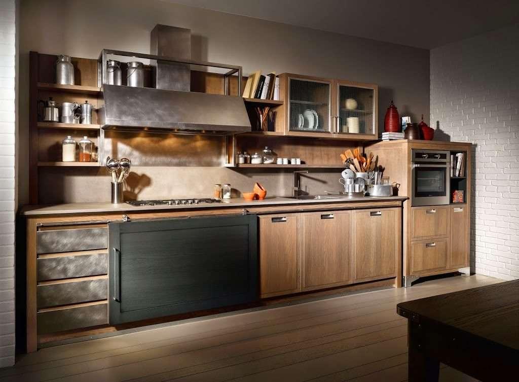 Cucine industrial chic firmate l 39 ottocento cucine for Cucina stile industriale
