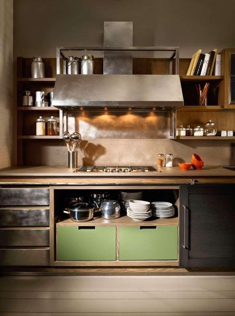 Cucine industrial chic firmate l 39 ottocento cucine - Cucina stile industriale ...