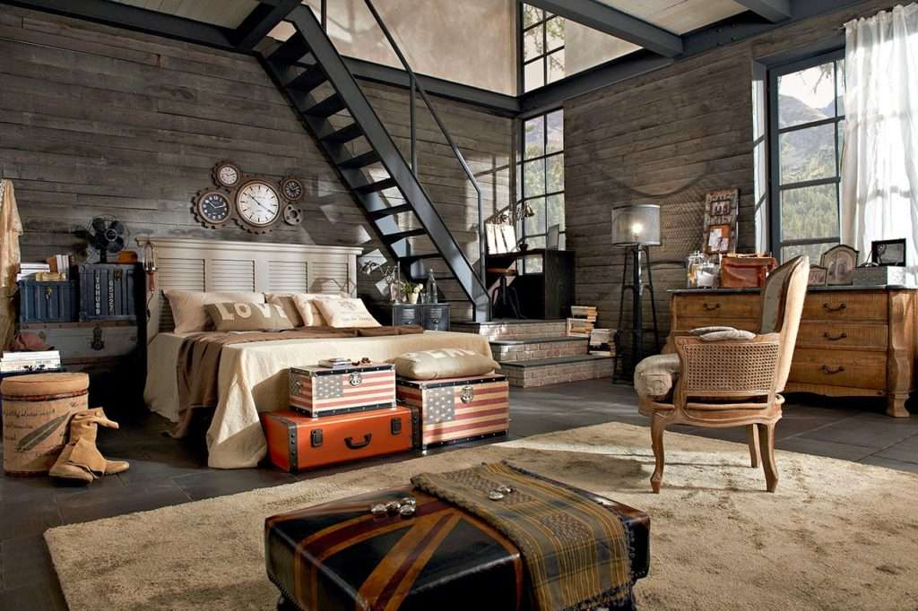 Camere da letto industrial by dialma brown - Camere stile inglese ...