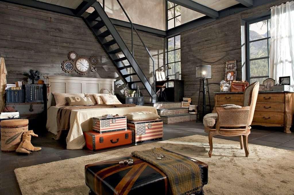Camere da letto stile industriale dialma brown - Letto stile industriale ...