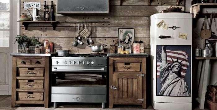 Le cucine industriali di dialma brown - Cucina stile vintage ...