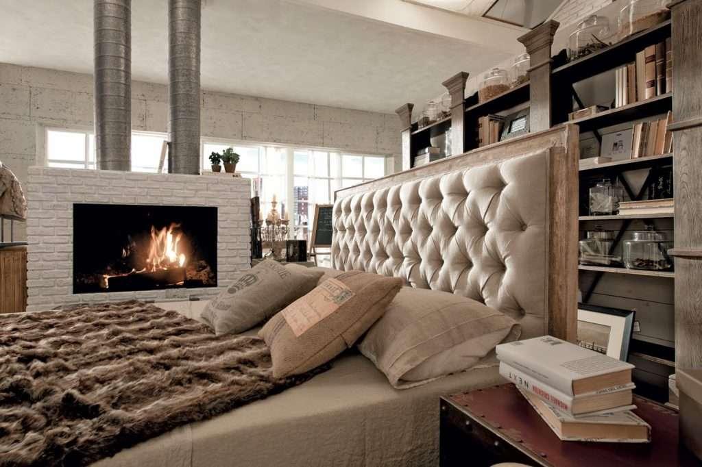 Camere da letto stile industriale dialma brown