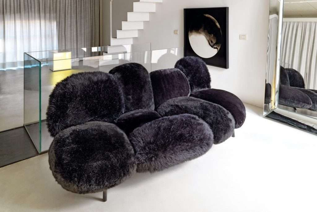 fur sofas and chairs