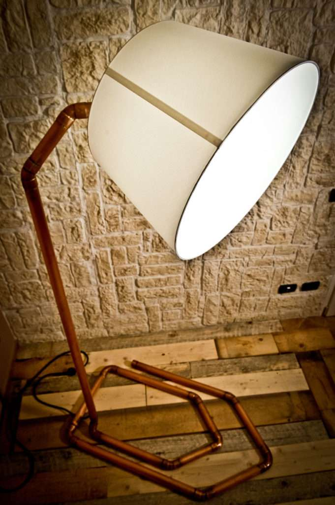 lampada, design, lampada di design, creazioni design, lampada in rame, lampada realizzata a mano