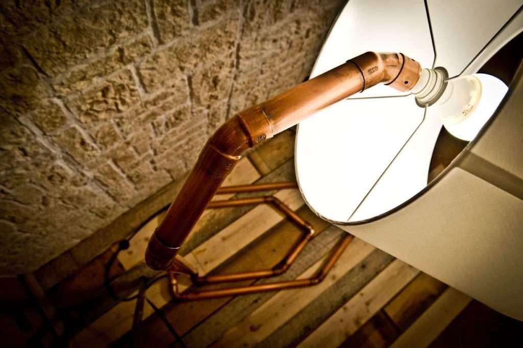 Lampada In Rame Design : Sedie e lampada firmate creazioni design