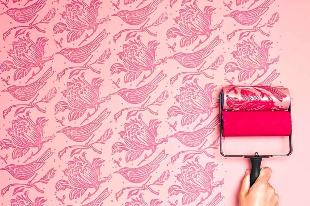 Штампы для покраски стен своими руками 60