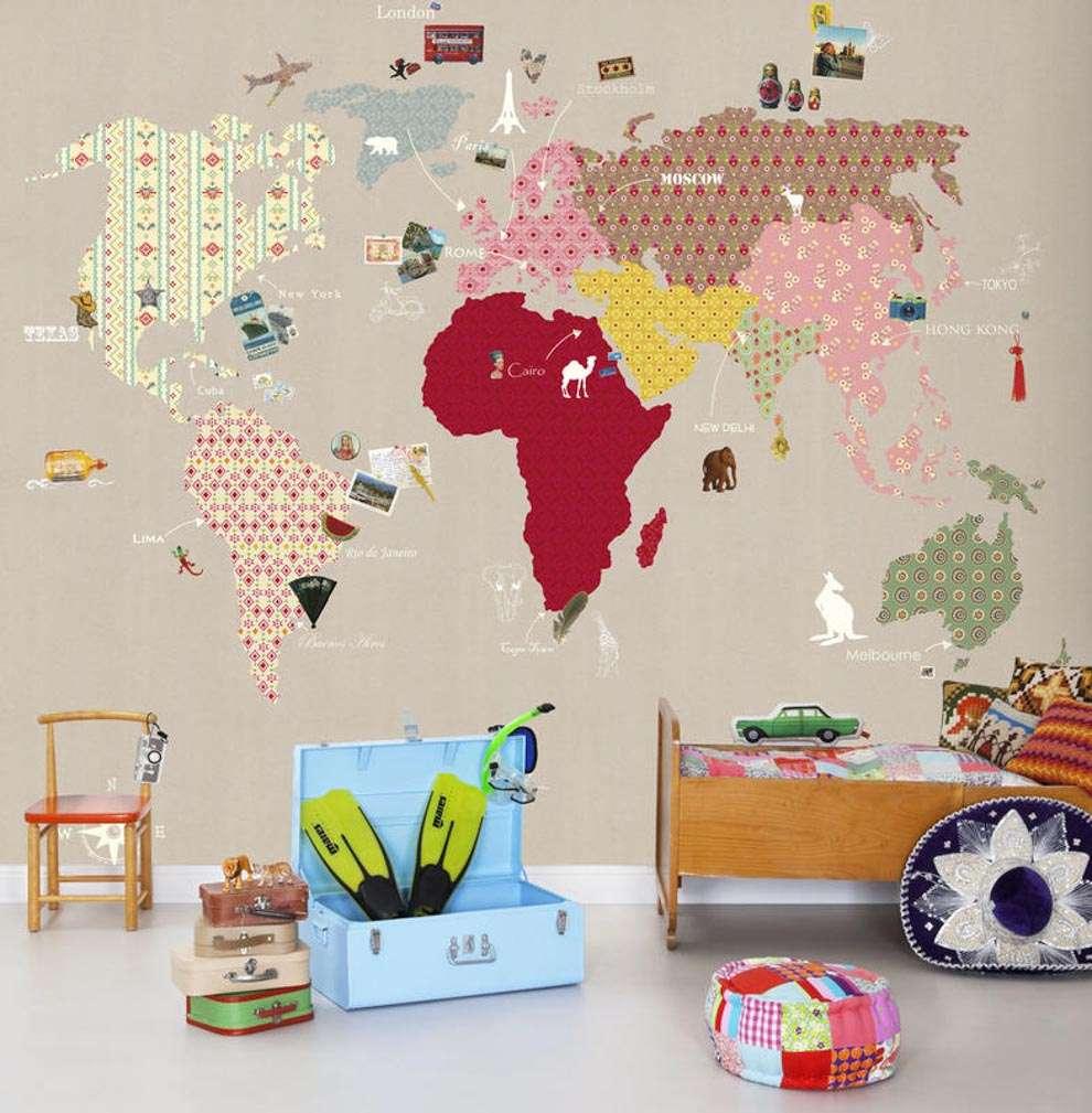 carte da parati soluzioni per la cameretta dei vostri. Black Bedroom Furniture Sets. Home Design Ideas