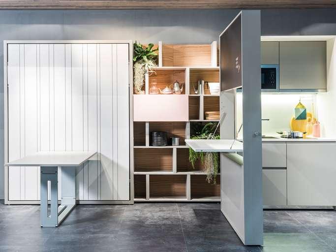 Clei soluzioni d 39 arredo e mobili trasformabili piccoli spazi - Cucine piccoli spazi ...