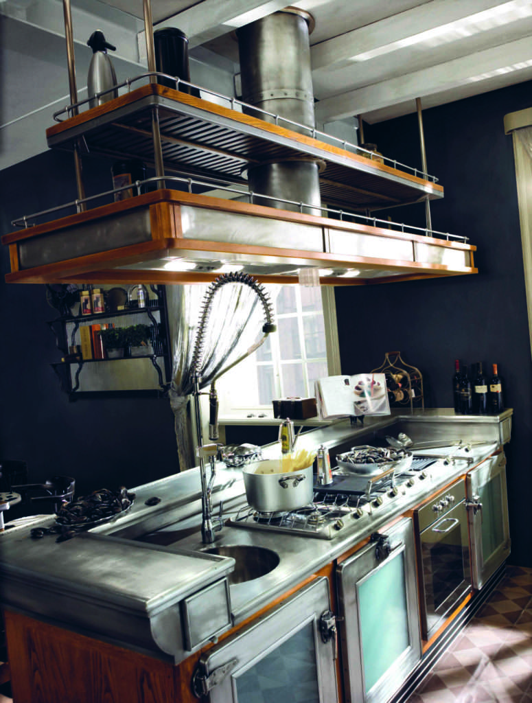 Marchi cucine la cucina bar barman in stile industriale for Cucine in stile
