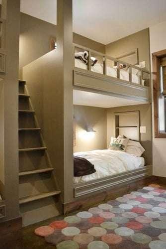 Cameretta - come sistemare due letti in un\'unica stanza.