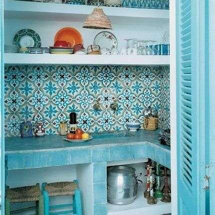 Stile mediterraneo verde acqua per la tua casa al mare - Bagno casa al mare ...