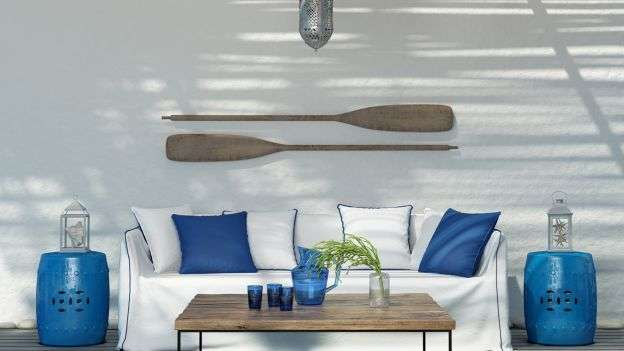 Stile mediterraneo verde acqua per la tua casa al mare for Stile marinaro arredamento