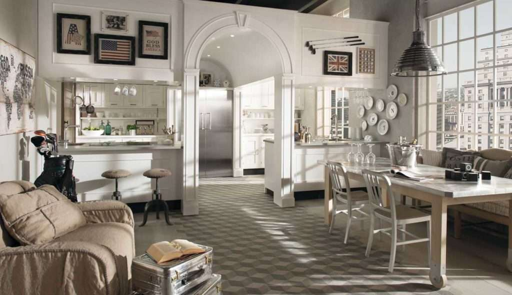 Arredamento cucina moderna industriale e country fyhwl for Cucine living immagini