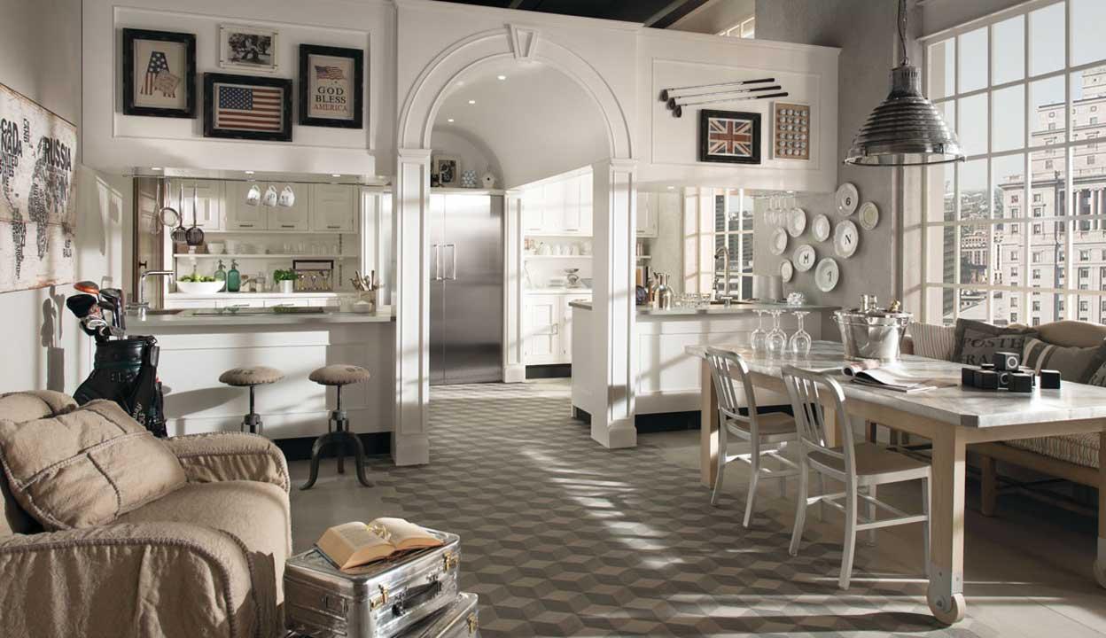Idee per realizzare tappeto cucina for Arredamento taverna stile provenzale