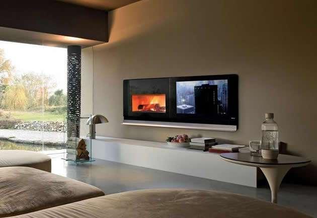 Mcz crea scenario il camino con tv integrata for Arredare il soggiorno con camino ad angolo