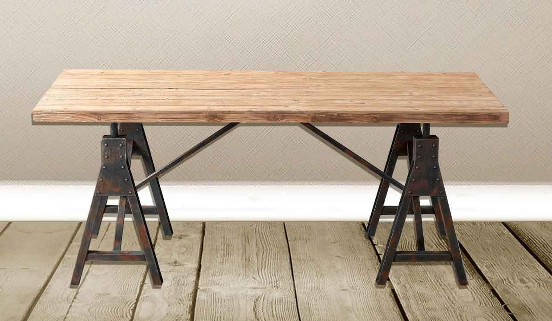 stile industriale tavoli tondi o rettangolari in stile