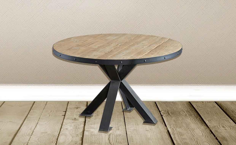 Stile industriale tavoli tondi o rettangolari in stile for Tavolo tondo estensibile