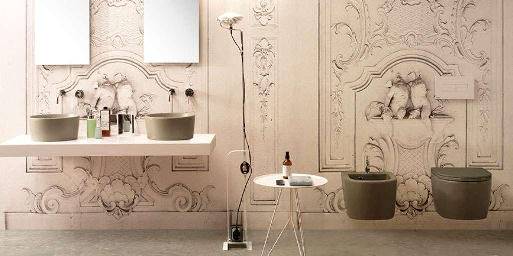 Un bagno color tortora firmato ceramica globo fyhwl - Bagno italiano opinioni ...