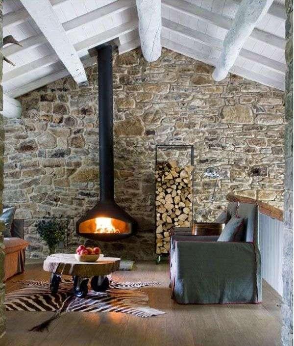 Come sistemare in modo originale la legna per il camino for Come sistemare la casa