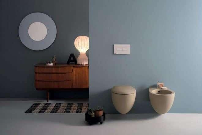 sanitari color tortora in bagno firmati ceramica globo