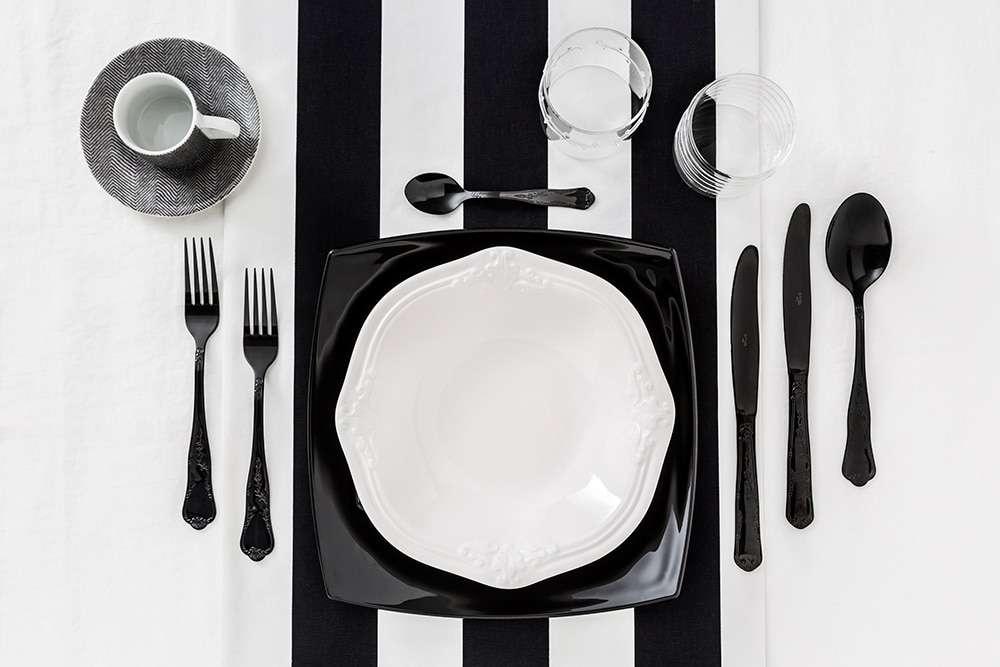La moda primavera estate a tavola con dalani fyhwl for Posate nere