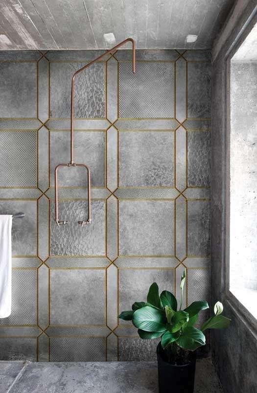 Carte da parati di design per la zona bagno fyhwl - Carta parati bagno ...