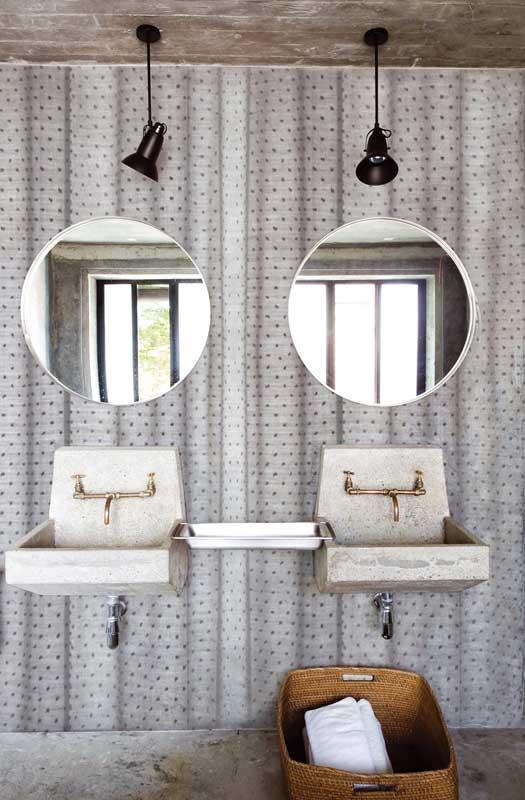 Carte da parati di design per la zona bagno fyhwl for Carta da parati lavabile per bagno