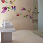 Carte da parati di design per la zona bagno