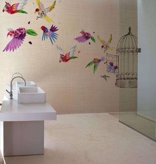 Carte da parati di design per la zona bagno fyhwl - Carta da parati di design ...