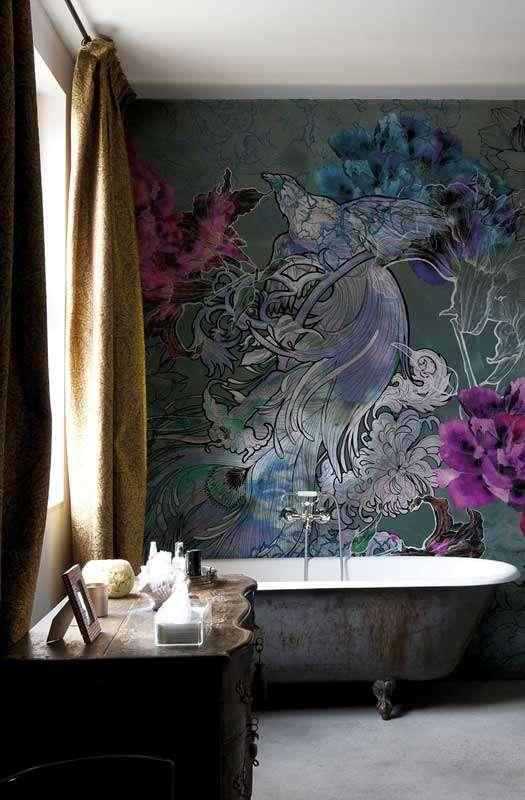 Carte da parati di design per la zona bagno fyhwl for Wall and deco showroom milano