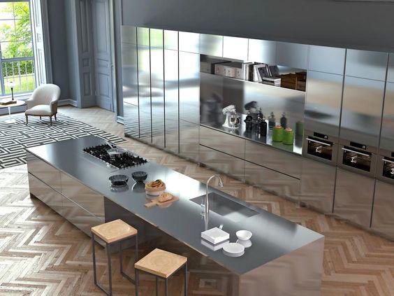 Cucina in acciaio con top in acciaio 3 - Top cucina acciaio ...