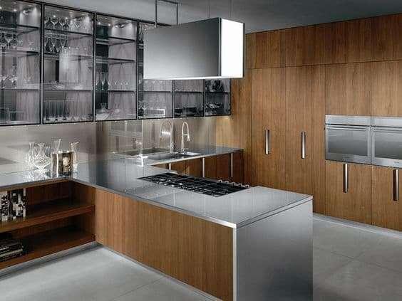 4 buoni motivi per scegliere un top in acciaio fyhwl - Cucine legno e acciaio ...