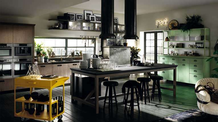 Una cucina Scavolini in stile industriale by Diesel