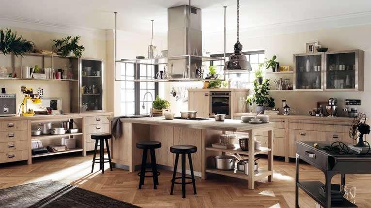 Una cucina Scavolini in stile industriale by Diesel: mobili in legno ...