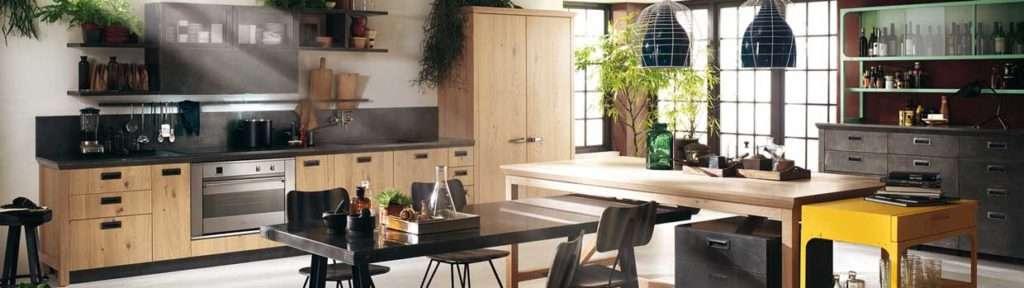 Una cucina scavolini in stile industriale by diesel fyhwl - Carrelli per cucine ...