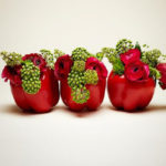 Composizioni di verdure come centrotavola