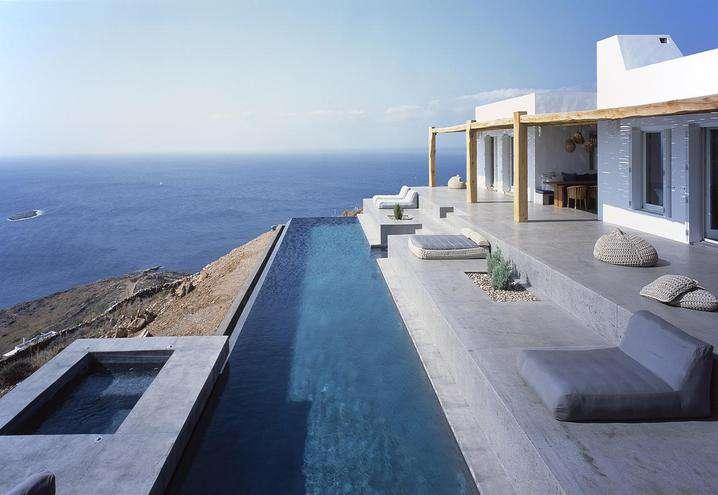 Bagno Con Vista Mare Architettura Design : Una villa vista mare in grecia fyhwl