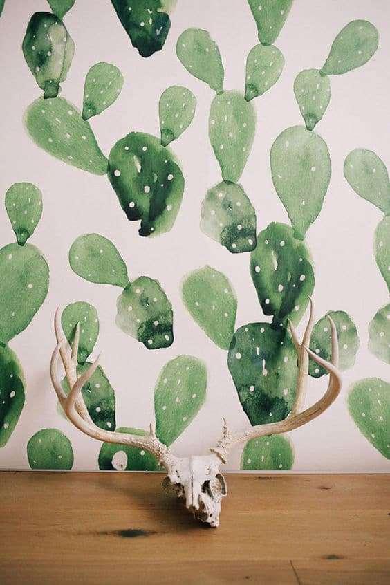 Carta da parati con piante la moda 2017 for Carta da parati murales