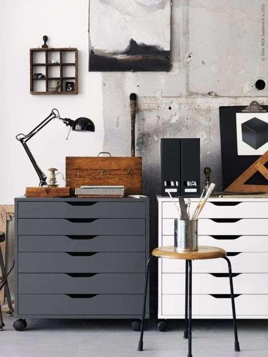 Un ufficio in casa in stile industriale blog di for Scrivania stile industriale