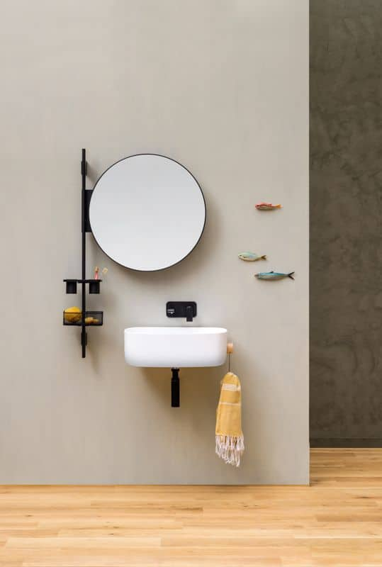 Arredare bagni piccoli con arredi minimal - Specchio rotondo bagno ...