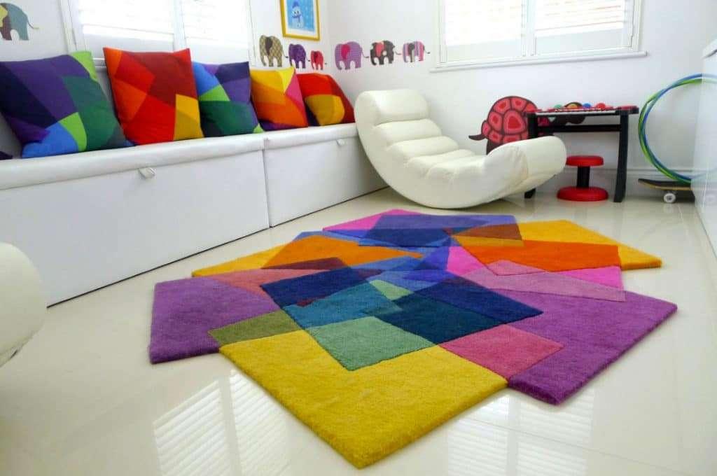 arredare con i tappeti per colorare le stanze