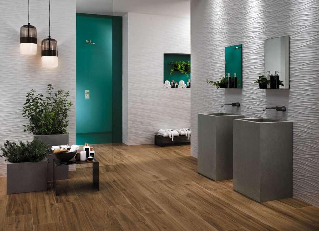 Piastrelle 3d tridimensionali per il bagno for Bagno piastrelle