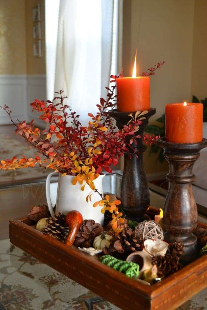 halloween hom decor elementi naturali