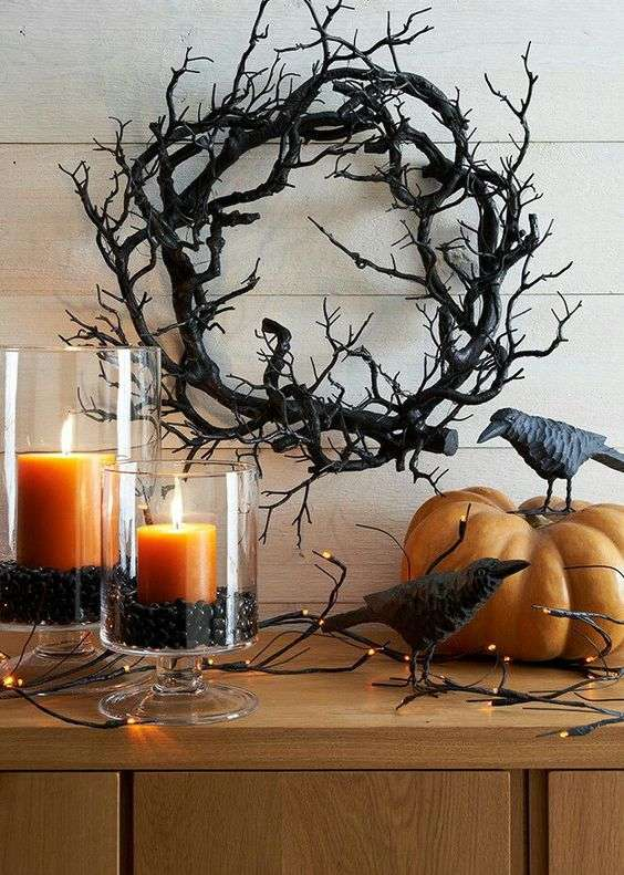 halloween home decor candele