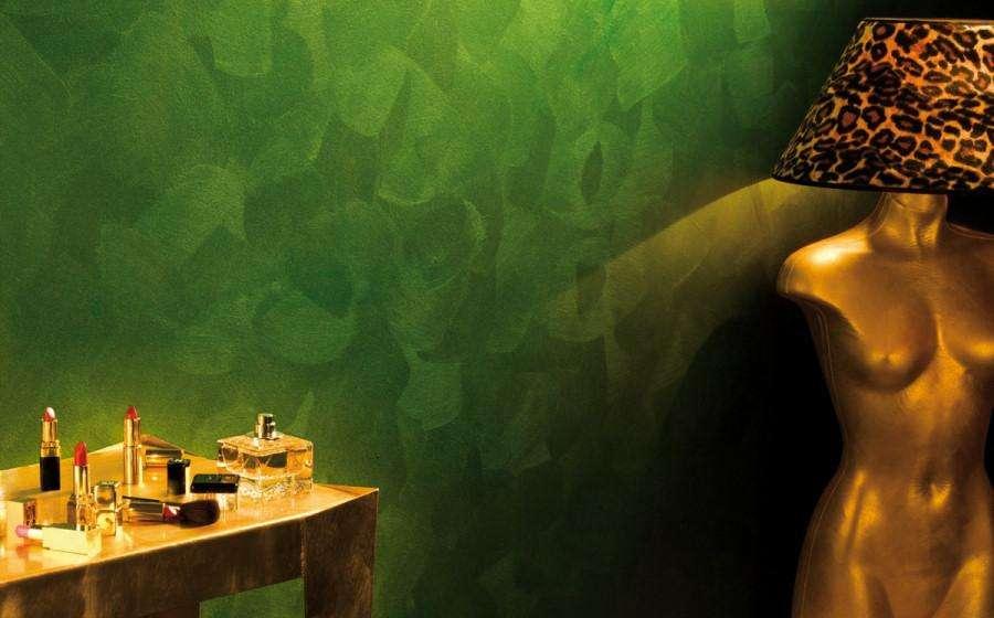 pareti materiche verdi