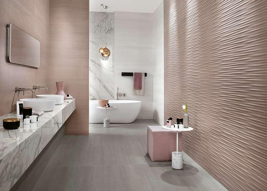 Piastrelle 3d tridimensionali per il bagno | Fillyourhomewithlove
