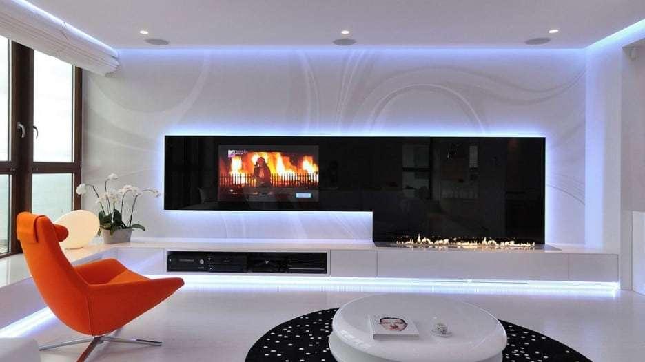 tecnologia LED parete verticale