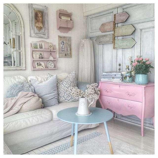 Arredamento stile shabby chic per soggiorno - Arredamento casa country chic ...