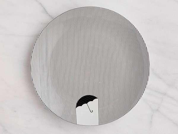 ceramiche di design con illusione ottica piatti