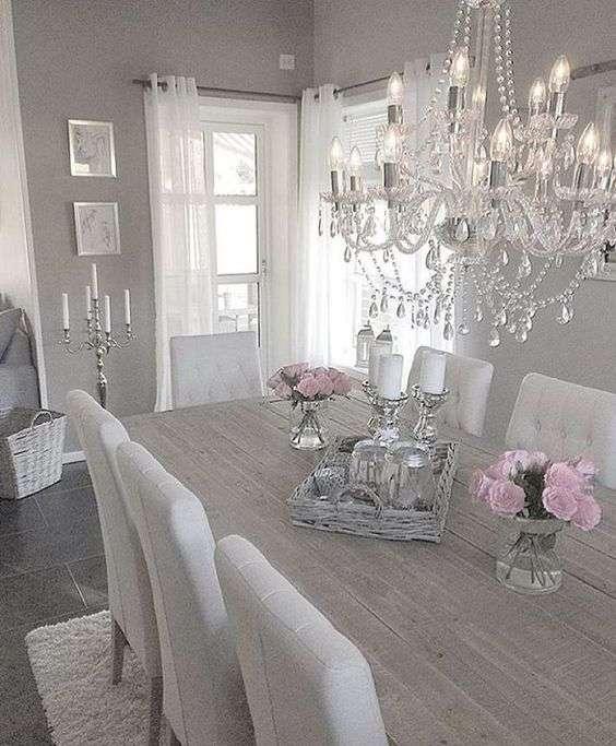 Lampadari shabby tra cristalli ed eleganza - Lampadari sala pranzo ...